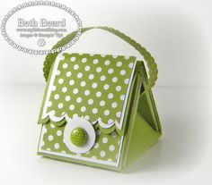 Video: Mini Purse Treat Box tutorial using Stampin' Up's Simply Scored tool.