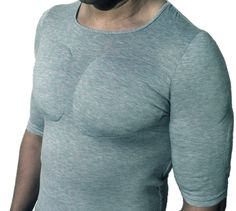Introducing the male equivalent of the push-up bra – the padded muscles shirt! This revolutionary t-shirt gives you the look of a defined muscular body without having to endure any difficult exercise, bodybuilding, or commitment to proper nutrition. Fake Muscles, Chest Muscles, Stupid Guys, Ugly Sweater Party, Muscle Shirts, Cute Costumes, Going To The Gym, Push Up, Men Sweater