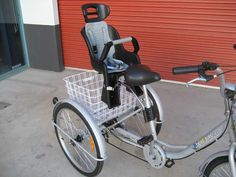 Best special needs bike seats. Tricycle provides better stability when on boarding and off boarding.