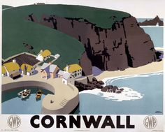 Great Western Railway poster 1923 - 1947 Cornwall #essenzadiriviera : natural olive oil skin care .
