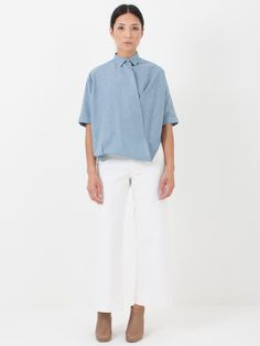 Assembly New York Chambray Twist Top