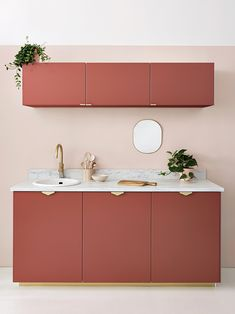 Galley Kitchen Design, Kitchen Room Design, Kitchen Cabinet Design, Kitchen Interior, Pastel Kitchen Decor, Pastel Home Decor, Interior Design Inspiration, Home Decor Inspiration, Home Interior Design