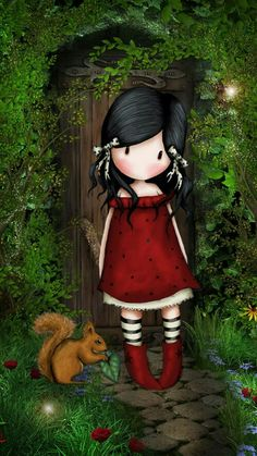 gorjuss - Suzanne Woolcott, a Scottish Artist Illustration Mignonne, Cute Illustration, Cute Images, Pretty Pictures, Decoupage, Art Mignon, Cute Dolls, Cute Drawings, Cute Wallpapers