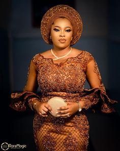 Nigerian Lace Dress, Nigerian Lace Styles, African Lace Styles, Lace Blouse Styles, Lace Dress Styles, Latest African Fashion Dresses, African Dresses For Women, African American Fashion, Afro