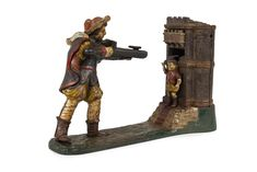 WILLIAM TELL Mechanical Bank cast iron money box, 17cm high / MAD on Collections - Browse and find over 10,000 categories of collectables from around the world - antiques, stamps, coins, memorabilia, art, bottles, jewellery, furniture, medals, toys and more at madoncollections.com. Free to view - Free to Register - Visit today. #MoneyBanks #MADonCollections #MADonC