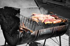 Montevideo pics, free for personal use, available on our site for professional use! BLACK WHITE BBQ MEAT SAUSAGE SMOKE