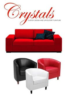 We at Crystals custom make your furniture From Lounge furniture to bedroom to dining room. Made in fabric or leather of Your choice No mass production so quality is not compromised Made to fit your home Our prices are very competitive Come in and see our sales staff at 900 Umgeni road, Durban, Kwazulu Natal (inside Fit For Bed) Whatsapp 0735579155 ( Comfort) 0318256000