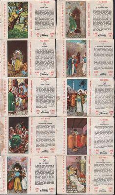 FIGURINE FERRERO-ALI BABA-LE STORIE CELEBRI-1957-61-COMPLETO 10 FIGURINE