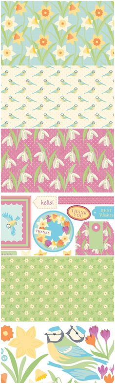 Fresh spring printable papers for card making and scrapbooking - from Papercraft Inspirations magazine.