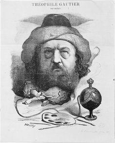 Théophile Gautier par Mailly, 1867  Club des Hashischins  http://under-overground.com/paris-lieux.html#ANCHOR_Text21