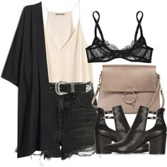 A fashion look from June 2016 featuring Alexander Wang shorts, L'Agent By Agent Provocateur bras e Topshop ankle booties. Browse and shop related looks.