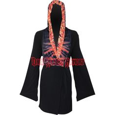 Furnace Flames Womens Hooded Robe - SL-F270T106 from Dark Knight Armoury