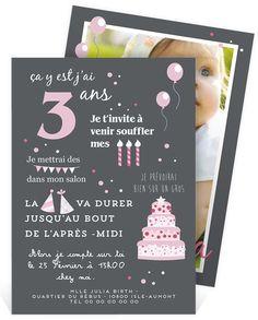 Invitation anniversaire avec ses détails festifs et colorés pour convier les amies de votre fille à son anniversaire, ref N24195