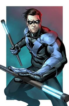 My all-time favorite character in the DC universe, Nightwing - Richard Grayson - art by Mark S. Miller