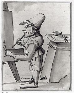 Caricature of a Dwarf Painter at His Easel  Tuscany (?)  Date: early 17th century| The Met