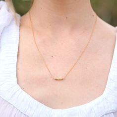 Gold Nugget Necklace by ayofemijewelry on Etsy, $38