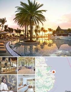 Cet hôtel se trouve au bord d'une plage de sable blanc tout à fait spectaculaire. Il est situé à Belle Mare, sur la côte est de l'Île Maurice. L'établissement est à 30 km du centre de Flacq, et à 1h de route de Port-Louis. Compter 45 km pour rejoindre l'a
