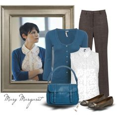 Mary Margaret - Once upon a time by oxigenio on Polyvore (I love the cardigan and lace)
