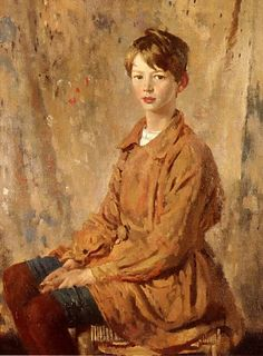 Irish painter Sir William Orpen (1878 - 1931) Portrait of Master Spottiswoode