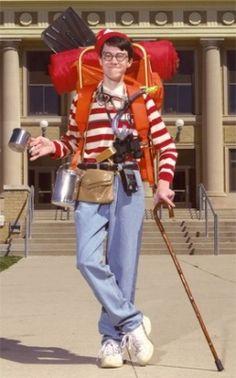 15 book character Halloween costumes for teachers: Where's Waldo Halloween Costume