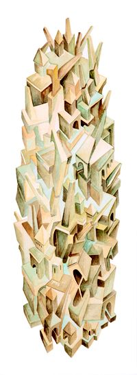 Zoe, watercolor by Colleen Corradi Brannigan (from Citta Invisibili)