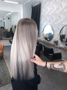 Balayage by ARBUTI Hair Salon - venue. Ash Blonde Hair Balayage, Blonde Hair Looks, Icy Blonde, Silver Blonde Hair, Brunette Hair, Hair Color Streaks, Hair Highlights, Blonde Grise, Underlights Hair