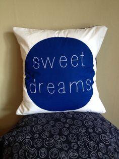 Sweet dreams pillow cover #modernkids #modernhome drawstringstudio.con