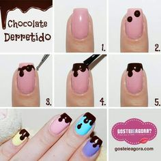 74 Cute Nail Art Designs for Easter; Pink Nail Art, Cute Nail Art, Nail Art Diy, Easy Nail Art, Cute Nails, Pretty Nails, Food Nail Art, Nagellack Design, Nagellack Trends