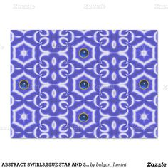 "ABSTRACT SWIRLS,BLUE STAR AND SAPPHIRE GEMSTONE 17"" X 23"" TISSUE PAPER"