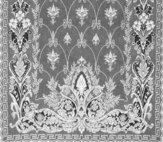 J.R. Burrows & Co. Lace Curtains; Neo-Grec Lace Curtain Panel ..