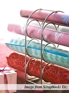 Wine rack to paper holder/organizer
