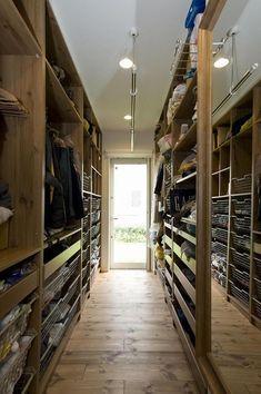 M And S Home, Walk Through Closet, Laundry Closet, Wardrobe Storage, Room Closet, Loft, Image House, Home Renovation, Interior Design Living Room