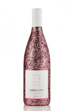 Pink Glitter Edition -- ONEHOPE Chardonnay: every 2 bottles sold fund a clinical trial for one patient with breast cancer.