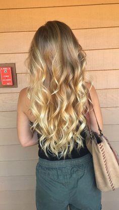 Golden Blonde Ombre Hair
