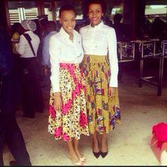 Kiki's Fashion: Spotted Nancy Sumari & Faraja Kotta wearing Kiki's...