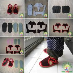 Diy baby kid shoes