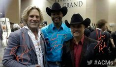Big and Rich backstage at the American Country Music Awards.