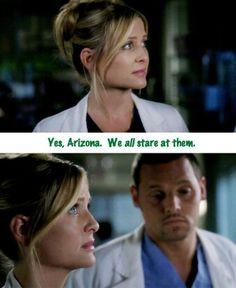 Greys Anatomy - Arizona Robbins - Alex Karev - Jessica Capshaw - Justin Chambers #GreysAnatomy