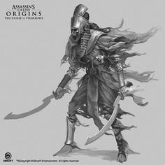 ArtStation - Assassin's Creed Origins: The Curse Of The Pharaohs, Konstantin Kostadinov Character Concept, Character Art, Character Design, Character Inspiration, Egypt Concept Art, Anime Warrior Girl, Tomb Kings, Egypt Mummy, All Assassin's Creed