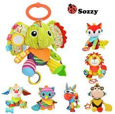 Sozzy Cartoon Kids  Animal lion elephant  dog  donkey owl monkey  Appease Stuffed Doll Plush Toys Kids Birthday Gifts #Affiliate