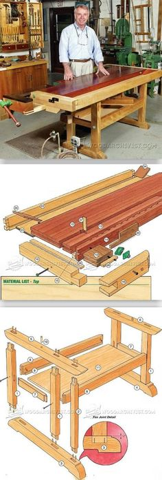 Building a Workbench - Workshop Solutions Projects, Tips and Tricks - Woodwork, Woodworking, Woodworking Plans, Woodworking Projects Woodworking Bench Plans, Woodworking Workshop, Woodworking Shop, Woodworking Projects, Building A Workbench, Workbench Plans, Woodworking Essentials, Workbench Designs, Tool Bench