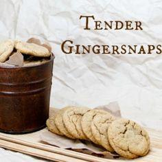 Tender Gingersnap Cookies