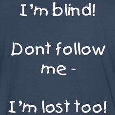 Bomuld T-shirt Blind person. Herre.