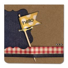 Hello Flag Punch Card