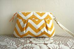 Chevron Stripe in Marigold/ White