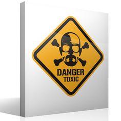 Adesivi Murali Heisenberg Danger Toxic Color