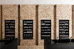 444569ad06a42c Aesop Bucktown, Chicago, USA interior design by Norman Kelley using  herringbone bricks Winkel Design