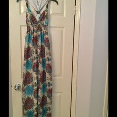 Sale Nwot Mitto Floral Maxi Dress