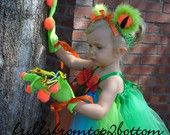Green Tree Frog Tutu Dress Sticky Hands Gloves and Frog Eye Headband ...