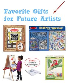{Favorite Gifts for Future Artists} A great list of ideas from Valerie of Inner Child Fun...